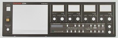 TASCAM 234 Syncast Cassette Deck FACEPLATE w LED Indicator Lights & Eject Button