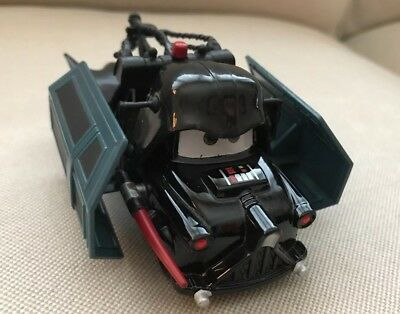 Disney Star Wars Weekends Tow Mater as Darth Vader Death Star Toy Pixar Cars