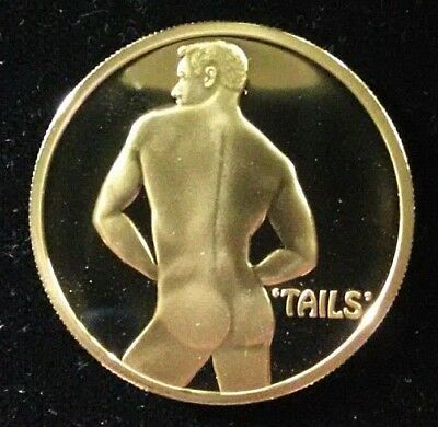 Sexy Male Heads or Tails Flip Challenge Coin Proof Like Made In USA NWTMint