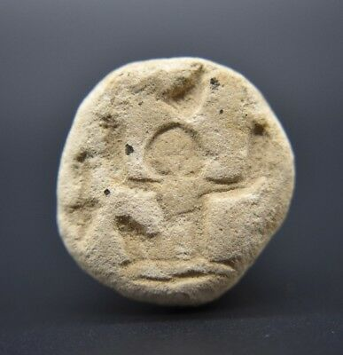 Ancient Egyptian Middle Kingdom faience seal pendant C. 2000 - 1700 BC