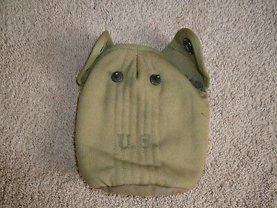 Original WWII U.S. ARMY 1943 Canvas Canteen Cover