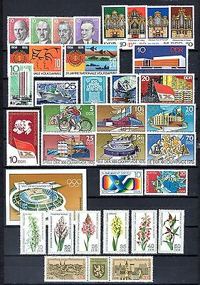 East-Germany/DDR/GDR: All stamps of 1976 in a year set complete, MNH