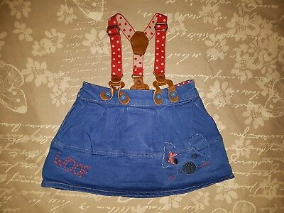 Baby Girls Skirt With Braces - 9-12 Months- Next- Dog
