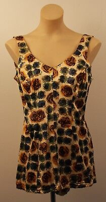 LARGE,ORIGINAL VINTAGE 1950s WOMENS BATHERS.WITH ROSES.