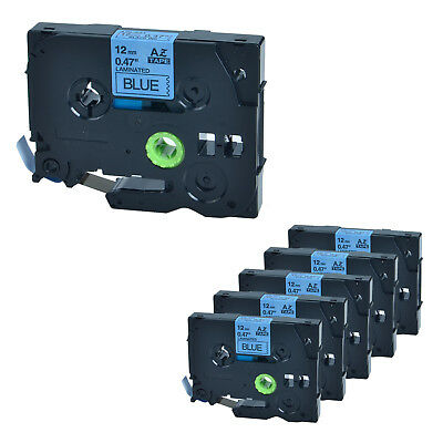 6 PK TZ-531 Black on Blue Label Tape TZe-531 For Brother P-touch PT-1880 12mm*8m