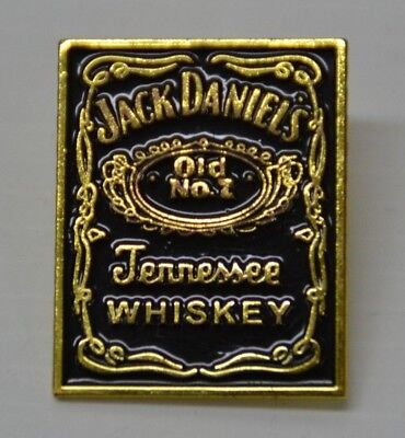 Jack Daniel's Old No.7 Tennessee Whiskey Brand New Engraved Gold Broach Pin