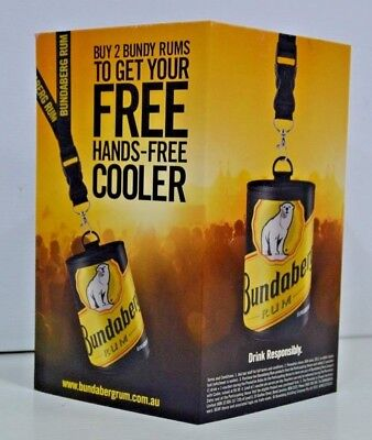 Bundaberg Rum Brand New 3 Sided Bar Advertiser Free Can Cooler Price Point Sign