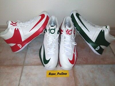 Lot Of 2 Men's Size 18 Red Green White Mid Xmas Nike Kd Trey 5 Basketball Shoes