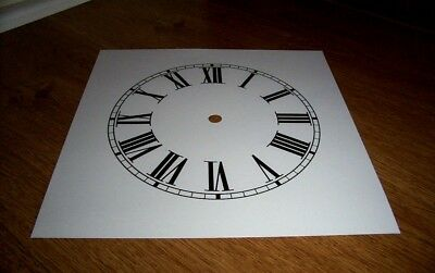 "Ogee Paper Clock Dial - 7"" M/T - Roman -  White Matt - Face/ Clock Parts/Spares"