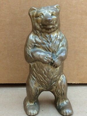 Cast Iron Bear Bank Standing Bear Still Bank