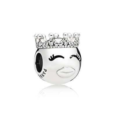 New Authentic Pandora 2018 Charm Bead Princess Emoji Sterling Silver 797143CZ