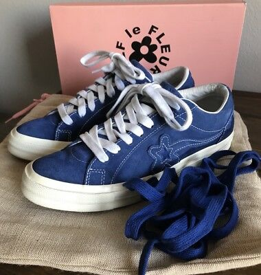 Converse One Star X Tyler The Creator Golf Le Fleur Blue Ox Size 9 5