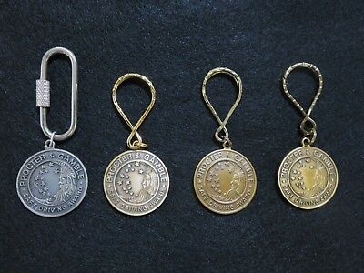 Proctor and Gamble Employee Safe Driving Award Key Rings. P&G. 10, 15, and 25 Yr