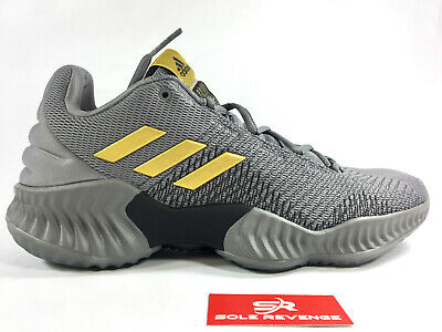 NEW! ADIDAS PRO BOUNCE LOW 2018 AH2683 - Mens Grey Gold Basketball Shoes c1 d346f597f