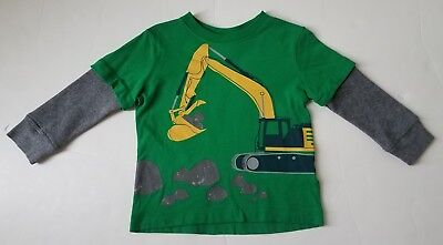 Hanna Andersson Boy Tee Digger 80 2T 18 24