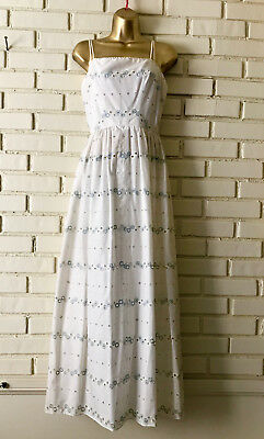 f365f631ea9 Vintage Lilli Diamond California Eyelet Sundress Size 6 Sleeveless Long Maxi