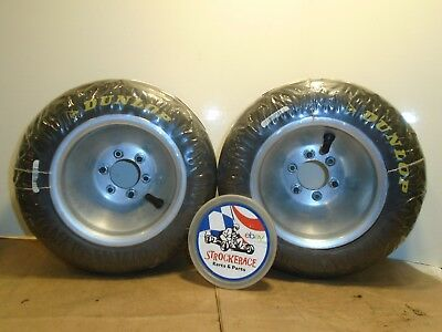 RACING GO KART NEW DUNLOP TIRES + 2 PC VAN K WHEELS Q.M.A 11x5.00-6 DRIFT TRIKE