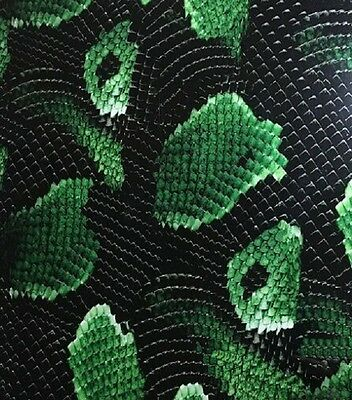 Hydrographic Film Water Transfer Hydrodipping Hydro Dip Green Snake Skin 1M