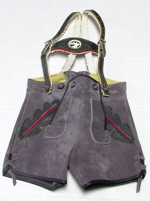 Leiderhosen youth size Germany soft suede leather
