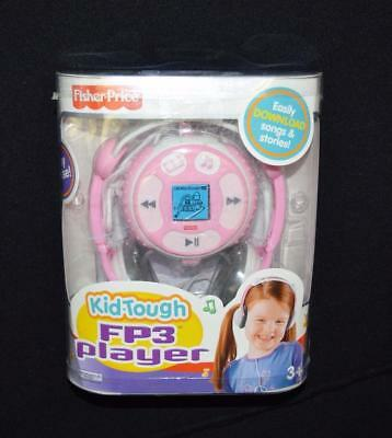 Fisher Price Kid-Tough FP3 Player PINK 128mb Music and Stories Works EUC Rare