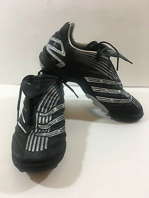 3b873bfd6 Adidas Traxion Firm Ground Turf Women s Soccer Cleats Shoes Black Silver  Size 8