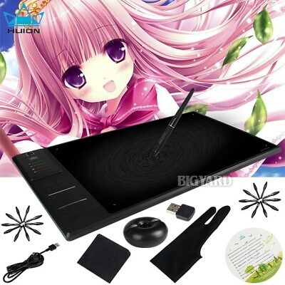 Huion WH1409 V2 8192 Levels 2.4G Wireless USB Art Graphic Tablet 266PPS + Glove