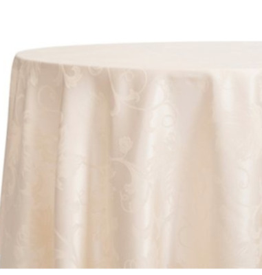 70 Inch Round Table Cloth.Autumn Scroll Damask 70 Inch Round Tablecloth Ivory Thanksgiving Fall