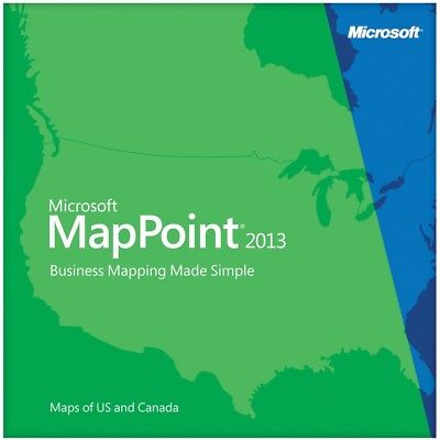 Microsoft MapPoint 2013 3 Pc's