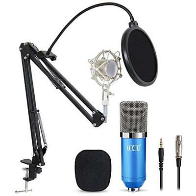 Professional Studio Instrument Condenser Microphone Computer PC Kit With 3.5mm
