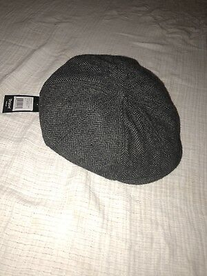 31b63153 Brixton Brood Snap Cap Newsboy Unisex Fitted Hat Gray/ black / Size S. NEW