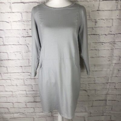 8e9e7bd4876b J Jill Pure Jill Fitted Dress Size M Petite Long Sleeve Gray Heather Pockets