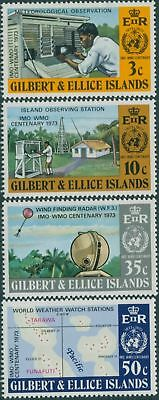 Gilbert Ellice Islands 1973 SG223-226 IMO WMO set MLH