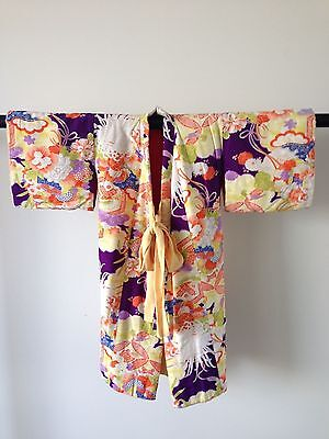 Antique Child's Decorative Padded Japanese Kimono Vintage Hand Made Sale