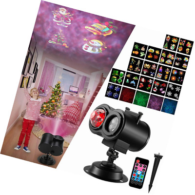 Led Christmas Light Projector, Ocean Wave 2 in 1 Night with 16 Slides Patterns W
