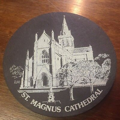 SS172 - Slate Coaster - St Magnus Cathedral, Kirkwall - Orkney