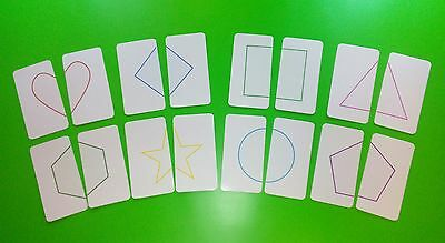 Attention Game Shapes Flash Cards / Educational Cards / Early Learning