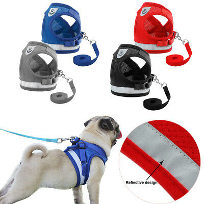 Mesh Puppy Vest Walk Leash Pet Traction Rope Chest Strap Dog Harness Collar