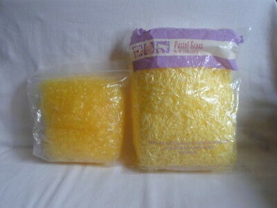 Lot of 2 Bags YELLOW Easter Grass