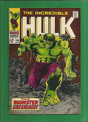 Incredible Hulk 105 1968 From Marvel (Like Spider-Man) High Grade