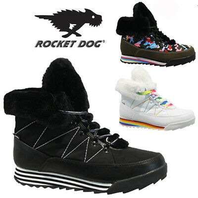 Rocket Dog Ladies Fur Winter Snow Warm Walking Hiking Ankle Boots Trainers Size