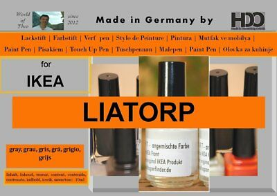 Lackstift - IKEA LIATORP grau grey gris