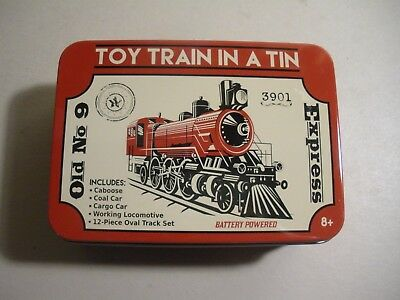 Toy Train in a Tin - Old No. 9 Express, Battery-operated, Mint