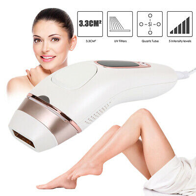 2 in1 IPL Permanent Hair Removal Machine Womens Face Body Epilator+ 2 Laser Head