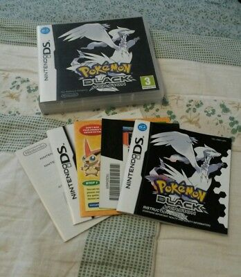 Pokemon black version for Nintendo ds case and instructions (no game)