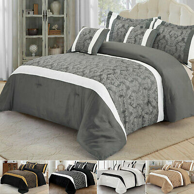 4 Piece Royal Luxury Satin Silk Duvet Cover Bedding Set King Double Size