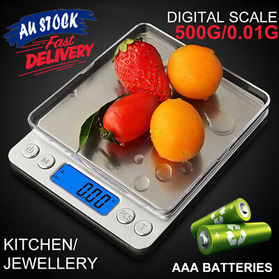0.01-500g Kitchen Food Scale Balance Weight Scales Digital LCD Electronic