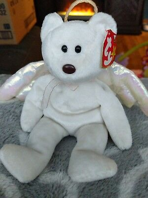 811ee284577 TY Beanie Baby - HALO the Angel Bear (8.5 inch) - MWMTs Stuffed Animal