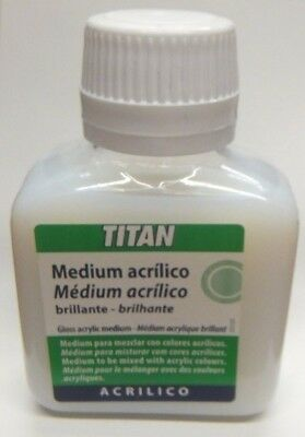 Artists Painting Medium For Acrylic Colours - Transparency - GLOSS 100ml