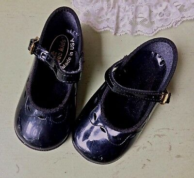 Baby girl Mary Jane buckle shoes black patent leather 1 - 1.5