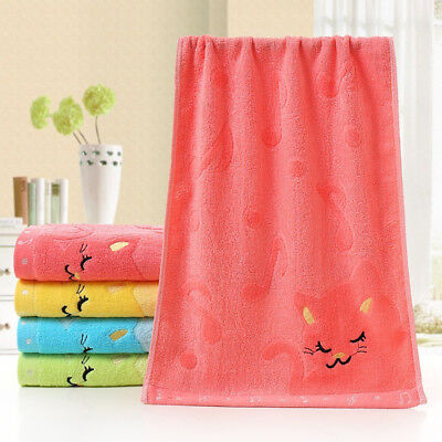 Cute Cat Musical Note Child Soft Towel Water Absorb For Bathing Shower Opulent